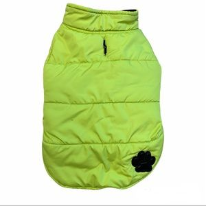Dog small breed neon lime green winter coat jacket